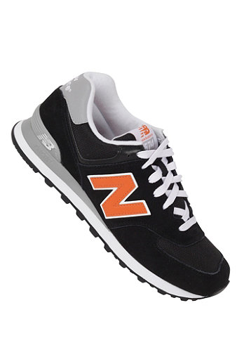 574 Shoe black/orange