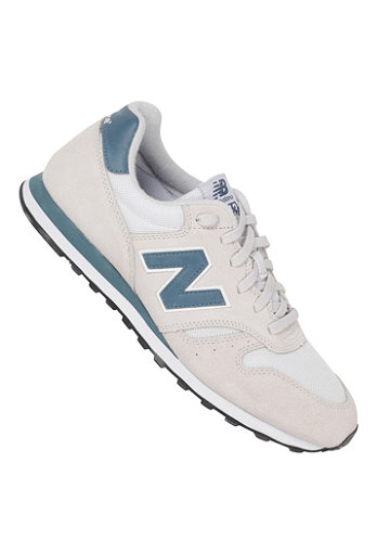373 Shoe pale grey/ petrol blue