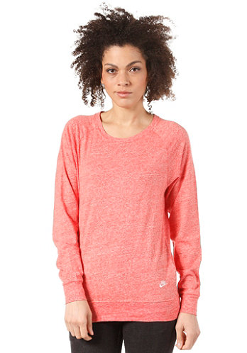 Womens Time Out Crew Longsleeve wild mango heather/sail