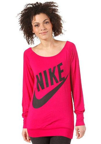 Womens Sportswear LS Top sport fuchsia/black