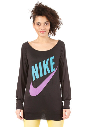 Womens Sportswear LS Top black/neo turquoiseuoise