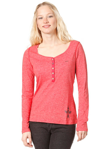 Womens Sky L/S T-Shirt red melange