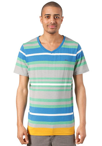 Alley S S T Shirt mint stripes