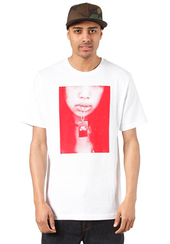 AF1 Seduce Me S S T Shirt white university red