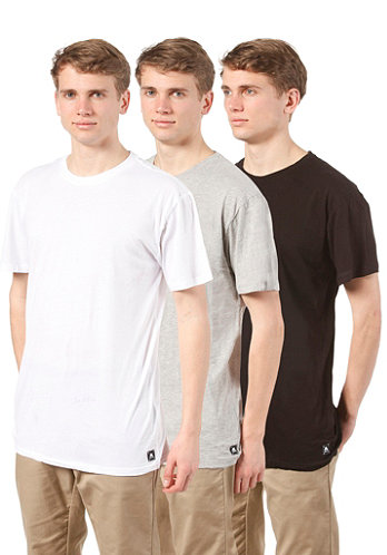 3 Pack Slim S S T Shirt ASSORTED