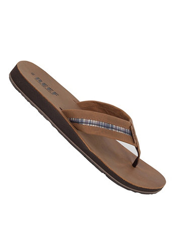 Bonzer Sandals dark brown/plai