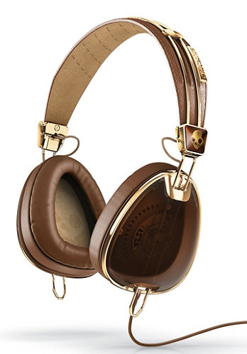 Aviator Headphones brown/gold