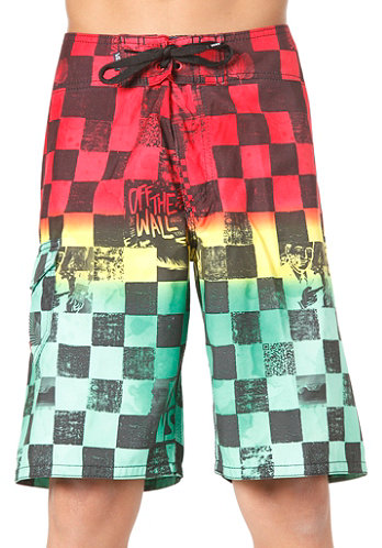 Kids Off The Wall Boardshort rasta scan check