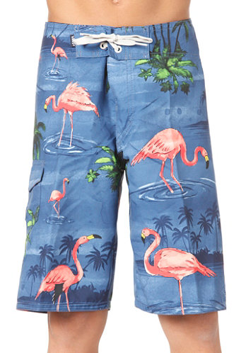 Kids Off The Wall Boardshort blue flamingo