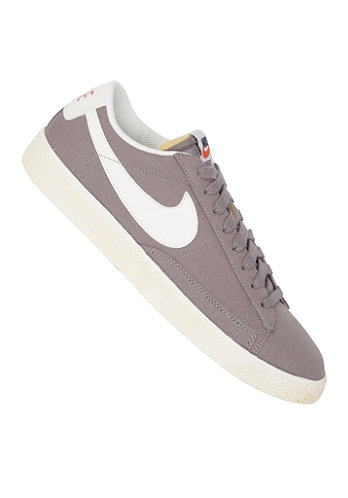Blazer Low Premium Vintage Canvas sport grey/sail-red reef