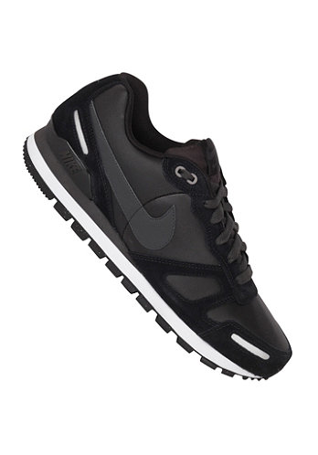 Air Waffle Trainer Leather black/anthrct-white-mtllc slvr
