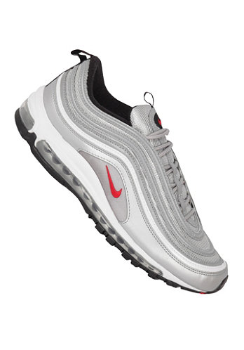 Air Max 97 mtllc slvr/vrsty rd-blk-white