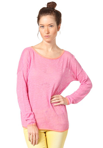 Womens Rosine Bright L/S Knit Sweat super pink
