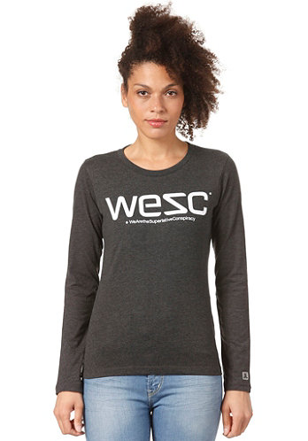 Womens WeSC L/S Shirt charcoal melange
