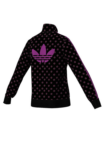 Kids Womens J Firebird Track Top Jacket black/vividpink noir/rosevif