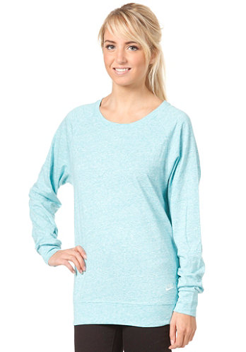 Womens Time Out Crew Sweat sport turq htr/sail