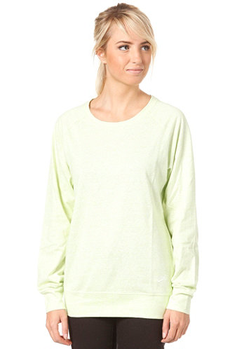 Womens Time Out Crew Sweat lab green htr/sail