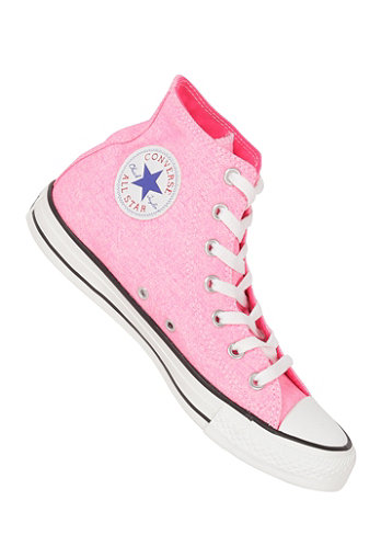 Chuck Taylor All Star B.Washed Hi neon pink