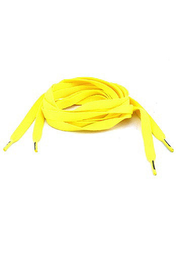 Tube Laces 120cm neon yellow