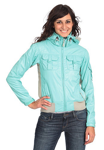 Womens Find Jacket eggshell blue