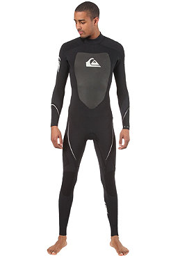 QUIKSILVER 3/2 Back Zip L/S Steamer Suit black