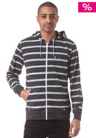 QUIKSILVER Carson Stripe Hooded Zip Sweat dk grey heather