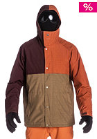 QUIKSILVER Decade 10K Snow Jacket rust