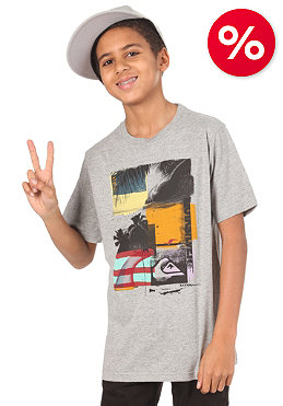 QUIKSILVER Kids Checkmate S/S T-Shirt light grey heat