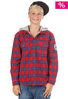 QUIKSILVER KIDS/ Clasher Heavy Flannel Hooded Jacket red check
