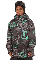 QUIKSILVER KIDS/ Next Mission Printed Youth Jacket stain green