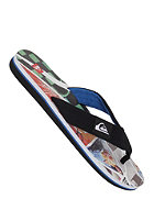 QUIKSILVER Layback Print Sandals black white blue