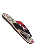 QUIKSILVER Layback Print Sandals white black red