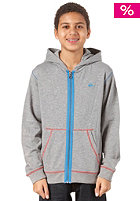 QUIKSILVER Lighten Youth Hooded Zip Sweat medium grey heather