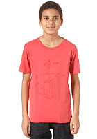 QUIKSILVER Nomad Organic Youth S/S T-Shirt smoked red