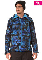 QUIKSILVER Roots Hooded Softshell AOP Leftover Jacket leftover blue