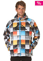 QUIKSILVER Roots Hoodie Softshell AOP Redemption Jacket checkblue redem