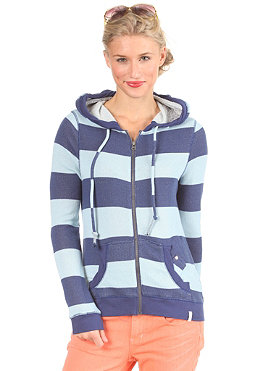 QUIKSILVER WOMEN Original Surf Stripe Hooded Zip Sweat blue dawn