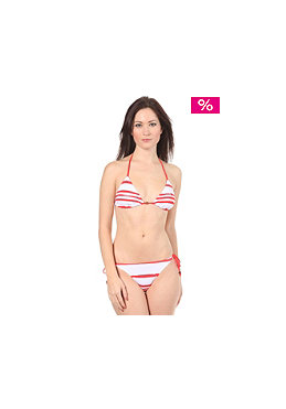 QUIKSILVER WOMEN Sail Stripes Tie Sides Bikini crimson sail