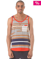 RAGWEAR Toby Tank Top brown sugar stripes
