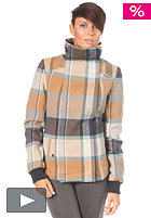 RAGWEAR Womens Beam A Woven Jacket mustard checks