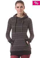 RAGWEAR Womens Benito Hooded Sweat black jaquard