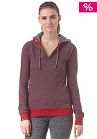 Womens Catch Hooded Sweat red melange
