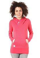 RAGWEAR Womens Chelsea B Hooded Sweat red minidots