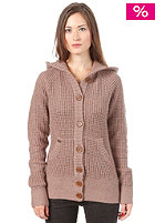 RAGWEAR Womens Maid Hooded Sweatshirt cinder grey speckled