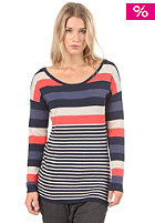 RAGWEAR Womens Marcy Sweatshirt coral stripes