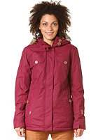 RAGWEAR Womens Nofx Jacket bordeaux
