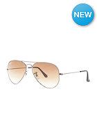 RAY BAN Aviator Large Metal Icons Sunglasses 55mm gunmetal crystal brown gradient