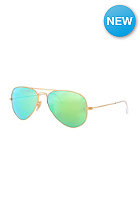 Aviator Large Metal Icons Sunglasses 55mm matte gold cry.green mirror multil.gre