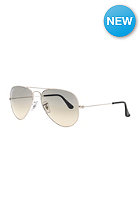 RAY BAN Aviator Large Metal Icons Sunglasses 55mm silver crystal grey gradient