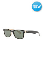 RAY BAN New Wayfarer Icons Sunglasses 58mm p black on beige crystal green